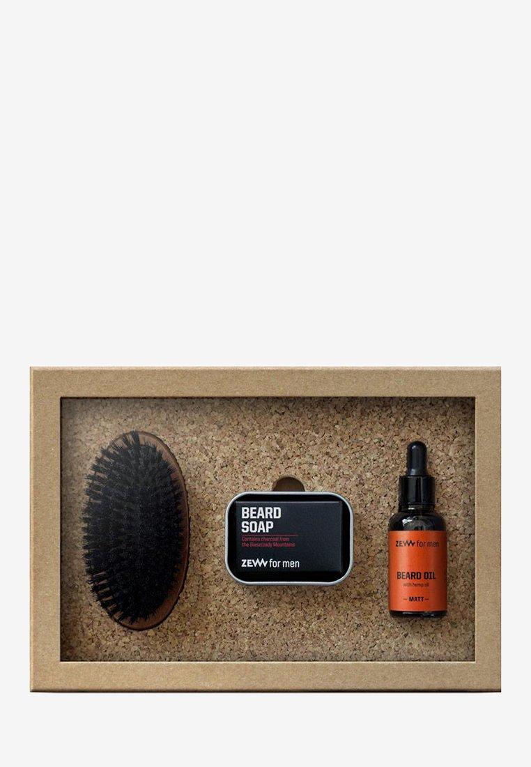 Zew for Men - SIMPLE LUMBERJACK HEMP MATT - Shaving set - orange