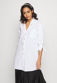 River Island - RICH SHIRT - Button-down blouse - white - 0