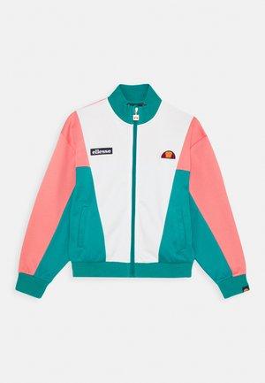 FELICITI - Zip-up hoodie - teal/pink