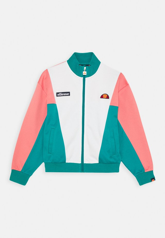 FELICITI - veste en sweat zippée - teal/pink