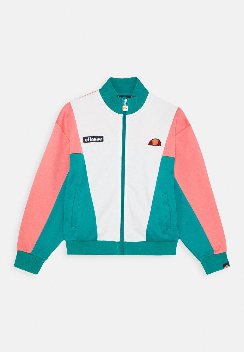 Ellesse - FELICITI - Sweat à capuche zippé - teal/pink