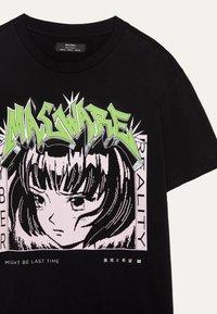 Bershka - MIT PRINT  - T-shirt print - black - 3