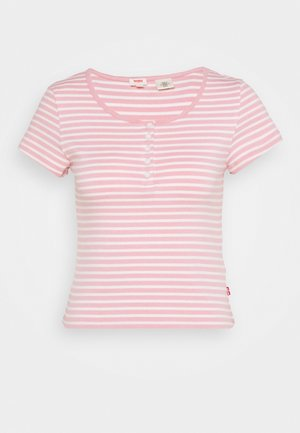 MEG HENLEY TEE - Print T-shirt - aya blush