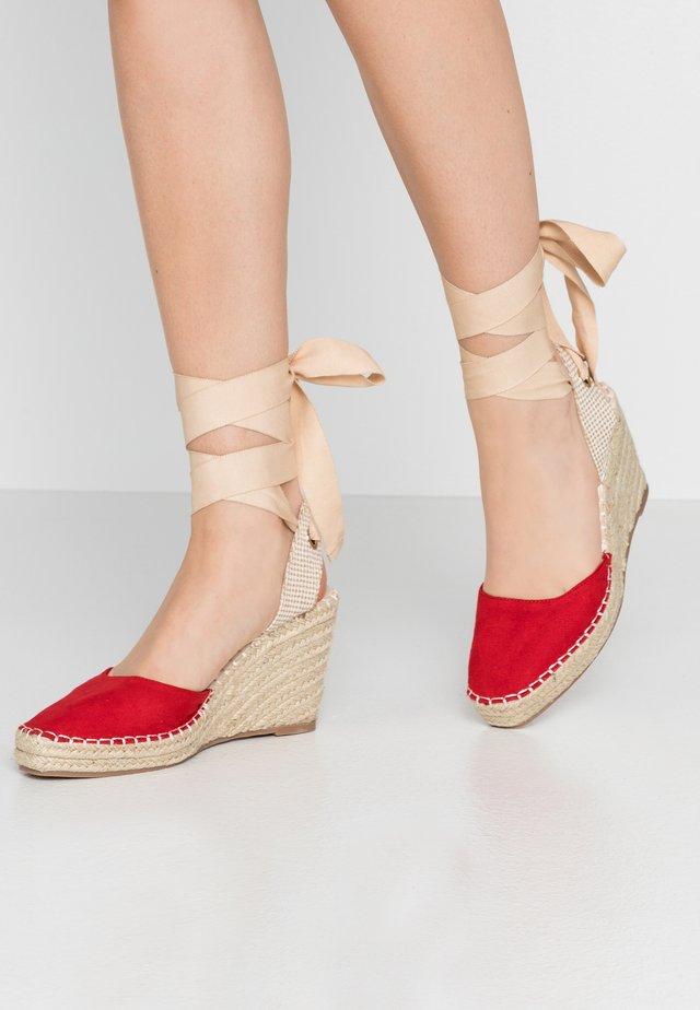 EADIE - High heeled sandals - red