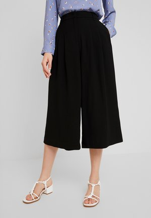 WIDE LEG CULOTTE - Pantaloni - black