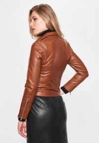 BTFCPH - EMMA - Leather jacket - cognac - 2