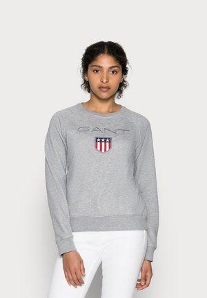 SHIELD LOGO C NECK - Sweatshirt - grey melange