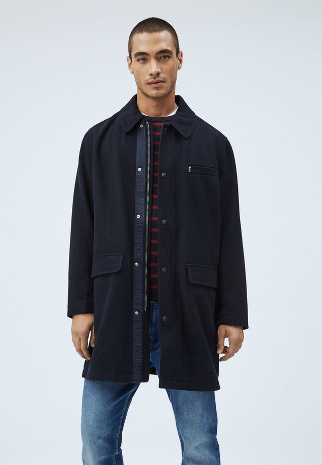 BLAKE - Classic coat - deepsea blau