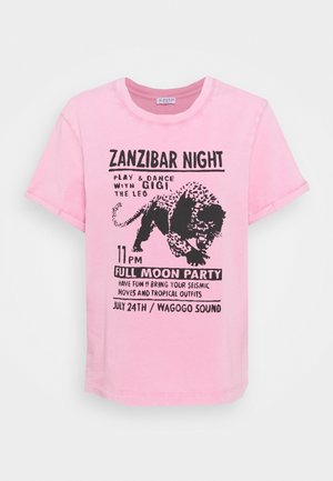 TIGRE - Print T-shirt - rose