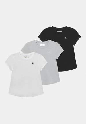 CORE CREW 3 PACK  - T-shirt basique - white/black/grey