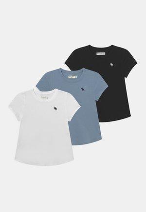 CORE CREW 3 PACK  - Basic T-shirt - white/black/grey