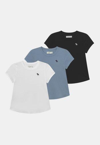CORE CREW 3 PACK  - Jednoduché triko - white/black/grey