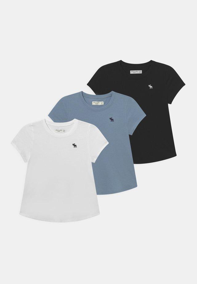 CORE CREW 3 PACK  - T-shirt - bas - white/black/grey