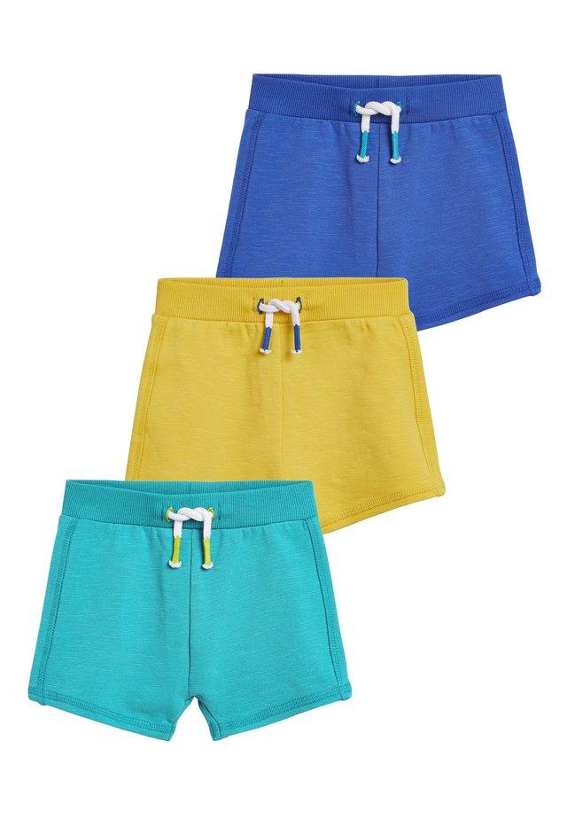 BLUE/YELLOW 3 PACK STRETCH SHORTS (0MTHS-2YRS) - Shorts - yellow