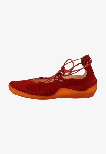 Ankle cuff ballet pumps