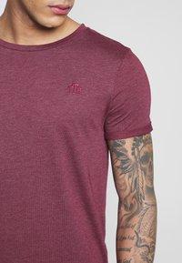 TOM TAILOR DENIM - LONG BASIC WITH LOGO - T-Shirt basic - deep burgundy melange - 5