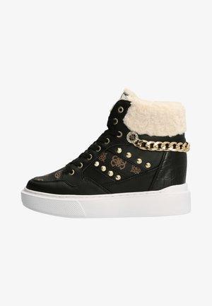 HOHER  ARYIA KUNSTFELL - Sneakers hoog - mehrfarbig schwarz