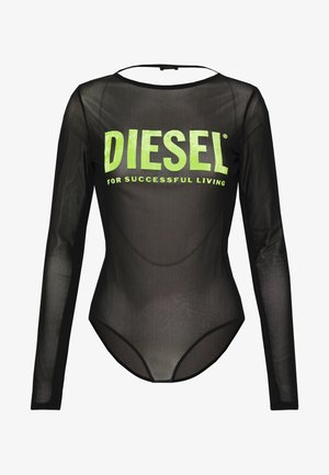 UFBY VALERICK BODY - Long sleeved top - black/neon