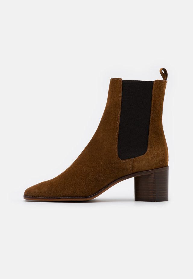 BERGAMOTE - Bottines - cognac