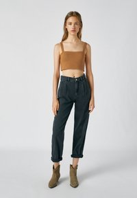 PULL&BEAR - Top - mottled dark brown - 1