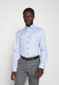 Selected Homme - SLHSLIM-NAS GREY CHECK SUIT - Oblek - grey/blue/white - 6