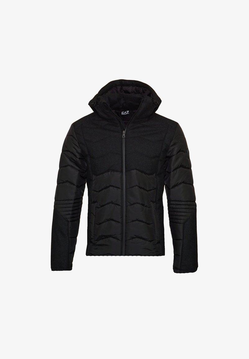 EA7 Emporio Armani - MIT KAPUZE - Winter jacket - black