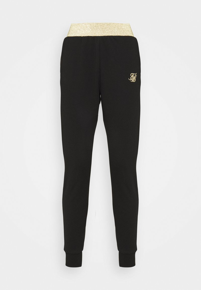 SIKSILK - TAPE JOGGER - Tracksuit bottoms - black