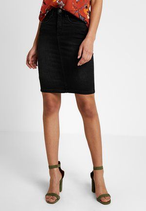 ONLFEXK KISS ME HIGH WAISTED SKIRT - Pencil skirt - black denim