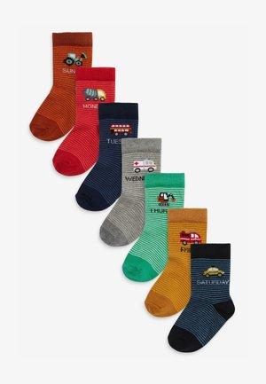 7 PACK - Socks - red