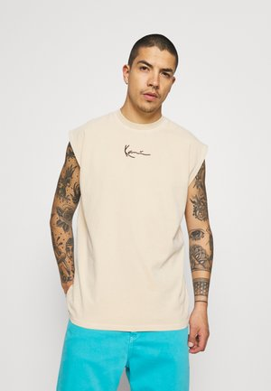 SMALL SIGNATURE TEE  - Top - sand