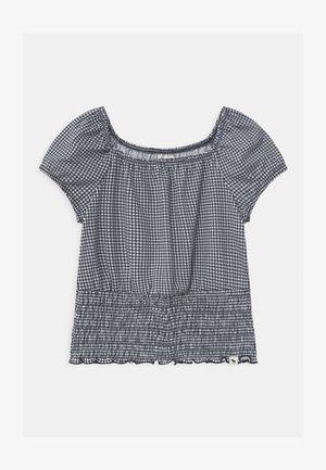 SMOCKED BOTTOM - T-shirt print - gingham