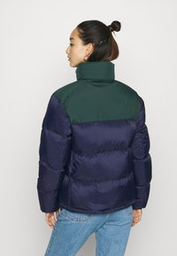 Lacoste - COLOR BLOCK PUFFER - Dunjakke - navy blue/sinople - 2