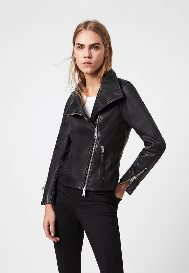 ELLIS - Leather jacket - black