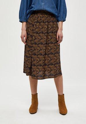 A-line skirt - burned hazel dot print