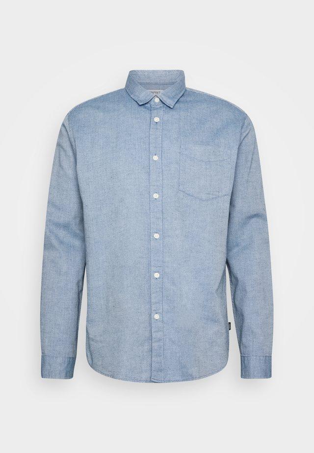 SLUB STRUCT - Koszula - grey/blue