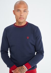 Jimmy Sanders - MIT UNIFARBENEM STOFF - Sweatshirt - dunkelblau - 1