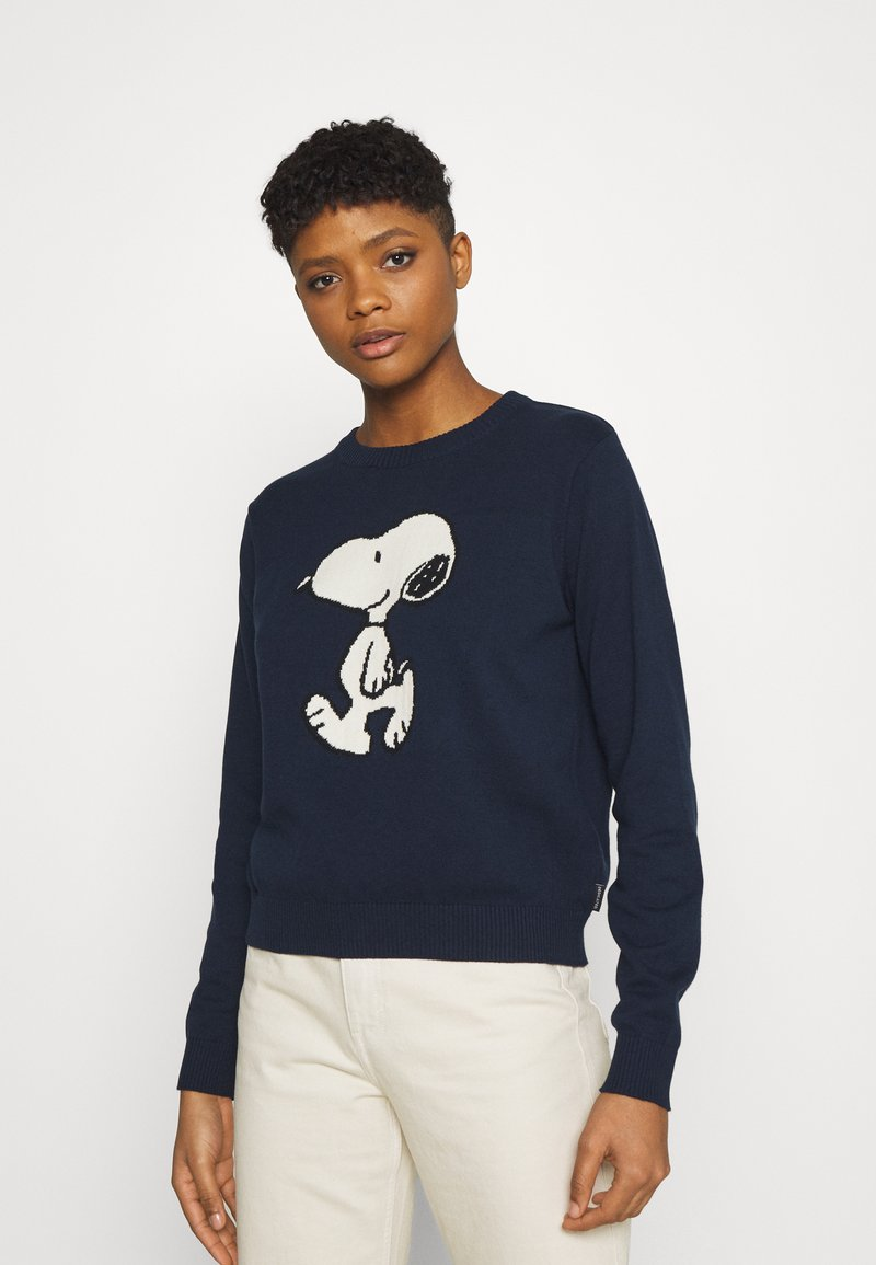 Dedicated - KNITTED SWEATER ARENDAL SNOOPY NAVY - Pullover - navy
