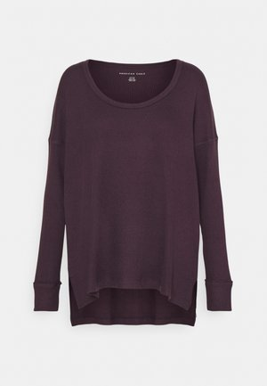PLUSH - Long sleeved top - plum