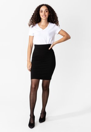 PAULINE - Pencil skirt - black
