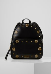 Versace Jeans Couture - SMALL BACKPACK STUD BORDER DETAIL - Rucksack - nero - 0