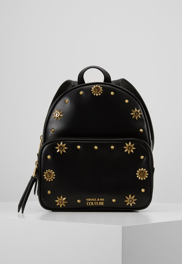 SMALL BACKPACK STUD BORDER DETAIL - Rucksack - nero