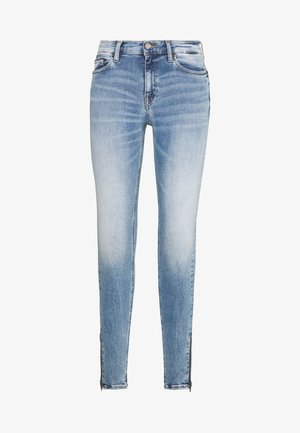 NORA ANKLE ZIP - Jeansy Skinny Fit - light-blue denim