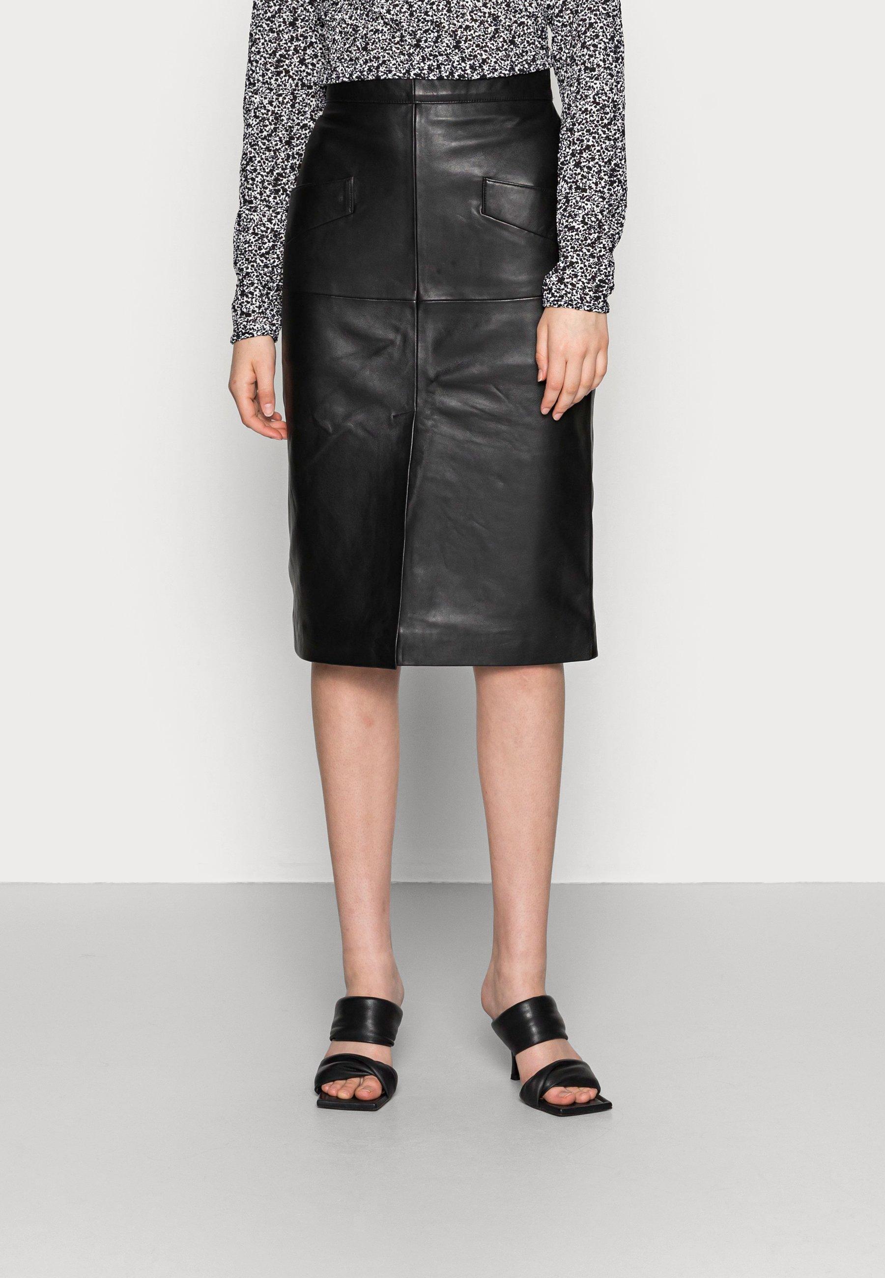 Femme CAITLYN - Jupe en cuir
