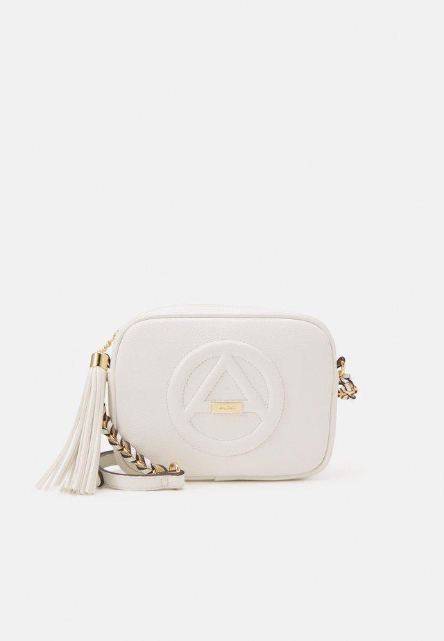RHERASSI - Across body bag - bright white/gold-coloured