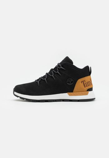 High-top trainers - black/wheat
