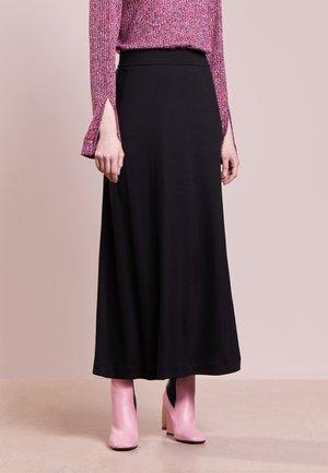 FIT FLARE SKIRT - Maxi skirt - black