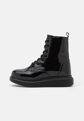 HONEY BOOT - Lace-up ankle boots - black