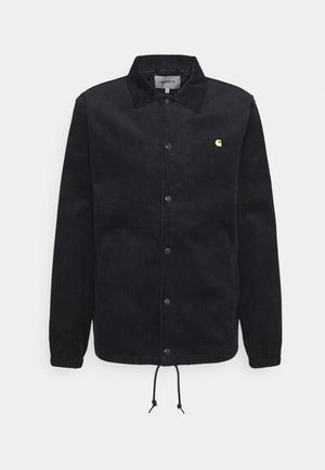 COACH JACKET - Chaqueta fina - dark navy/limoncello