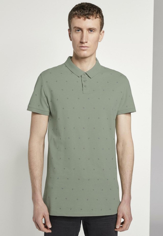 POLOSHIRTS POLOSHIRT MIT ALLOVER-PRINT - Polo - green small leaves print