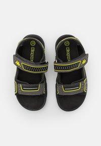 Kappa - UNISEX - Walking sandals - black/lime - 3